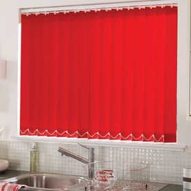 red kitchen blinds