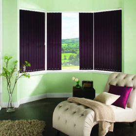 purple window blackout blinds