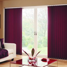 purple full patio door blind